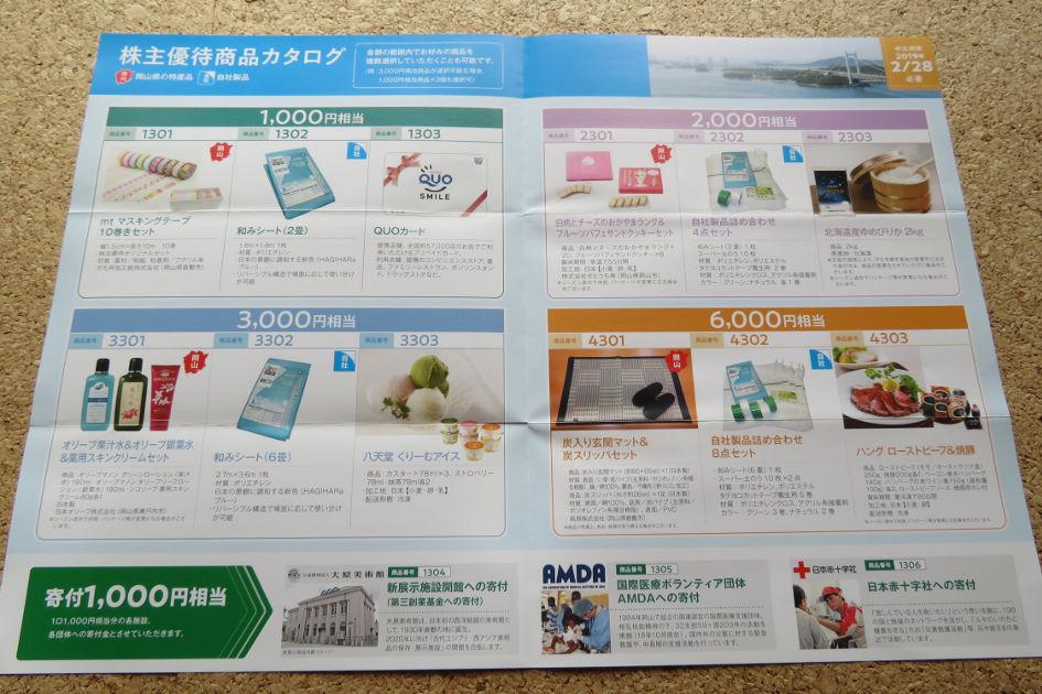 萩原工業株主優待商品カタログ